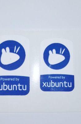 Stiker Badge Xubuntu - Vinyl Cut 1