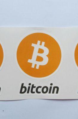 Stiker Bitcoin  - Vinyl Cut 1