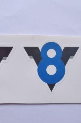 Stiker V8 -  Vinyl Cut 1