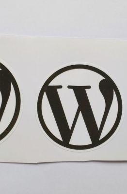 Stiker Wordpress -  Vinyl Cut 1