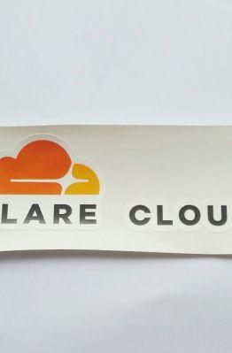 Stiker Cloudflare - Vinyl Cut 1