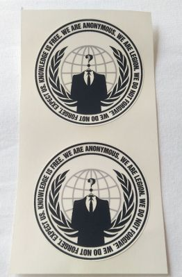Stiker Anonym - Vinyl 1