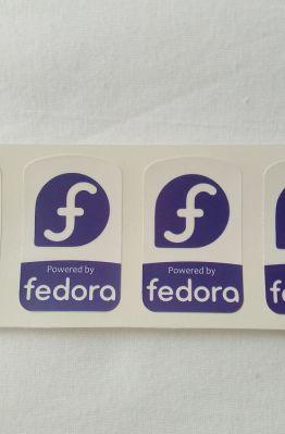 Stiker Badge Fedora 1