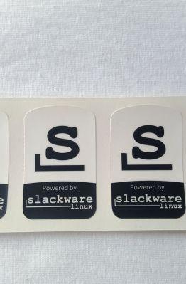Stiker Badge Slackware 1