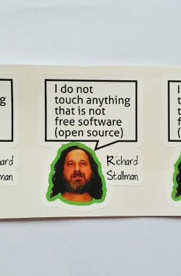 Stiker Richard Stallman Quote - Vinyl Cut 1
