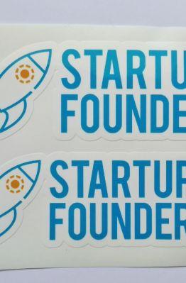 Stiker Startup founder - Vinyl Cut 1