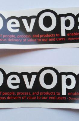 Stiker DevOps - Vinyl Cut 1