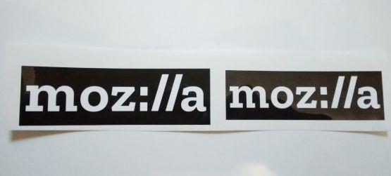 Stiker Mozilla - Vinyl Cut 2