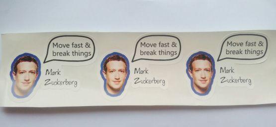 Stiker Mark Zuckerberg Quote - Vinyl Cut 2
