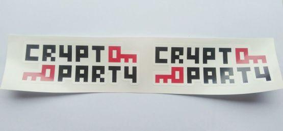 Stiker Crypto Party - Vinyl Cut 2