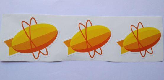 Stiker Zepplin -  Vinyl Cut 2