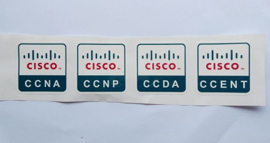 Stiker Cisco Certificate - Vinyl Cut 2