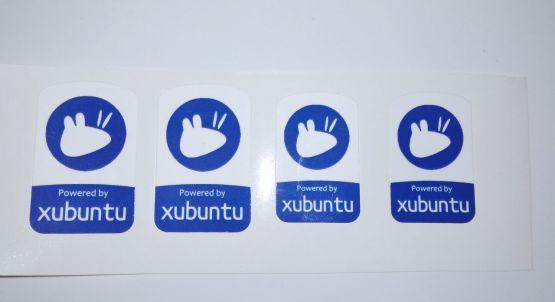 Stiker Badge Xubuntu - Vinyl Cut 2