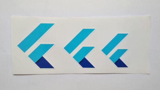 Stiker Flutter -  Vinyl Cut 2