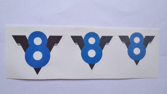 Stiker V8 -  Vinyl Cut 2