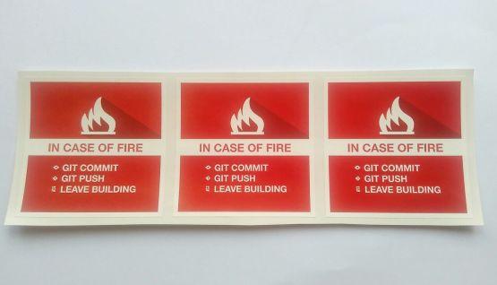 Stiker Git Fire - Vinyl Cut 2