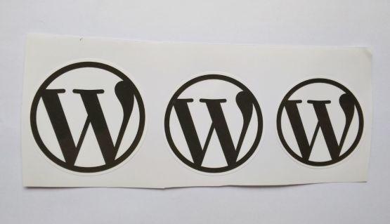 Stiker Wordpress -  Vinyl Cut 2
