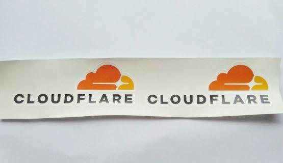 Stiker Cloudflare - Vinyl Cut 2