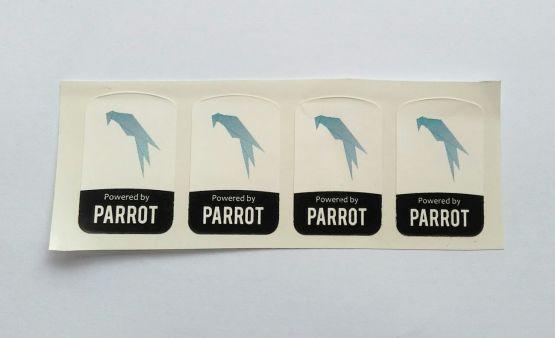Stiker Badge Parrot  - Vinyl Cut 2