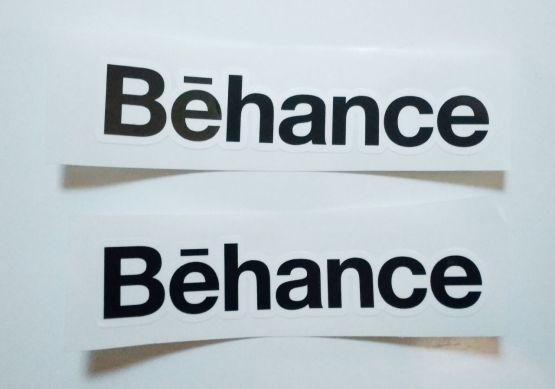 Stiker Behance - Vinyl Cut 2
