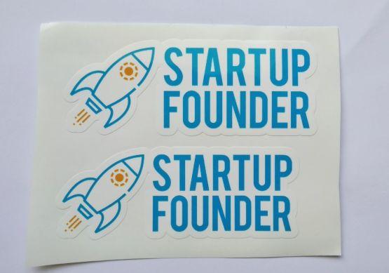 Stiker Startup founder - Vinyl Cut 2