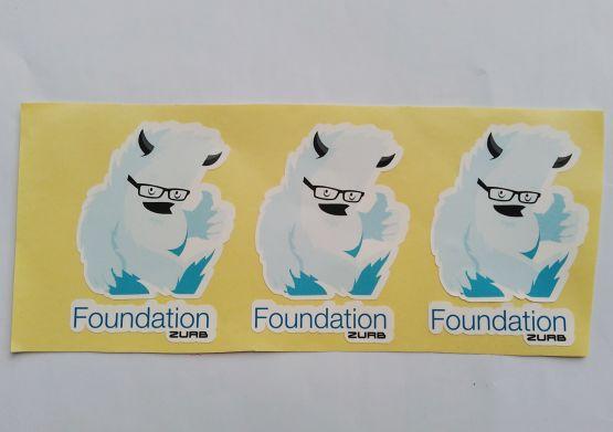 Stiker Foundation - Vinyl 2