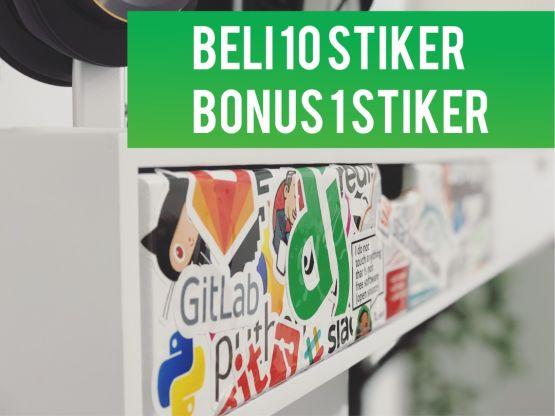 Paket Bundling 10 Stiker - Bonus 1 Stiker 2