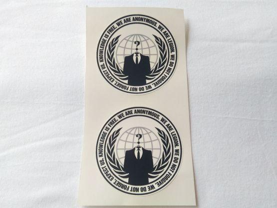 Stiker Anonym - Vinyl 2