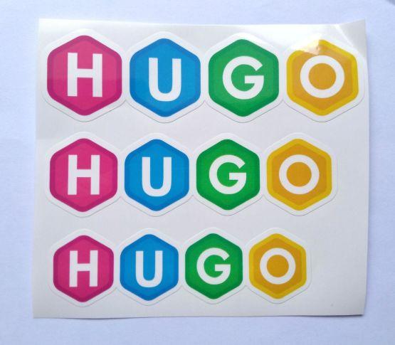 Stiker Hugo -  Vinyl Cut 2
