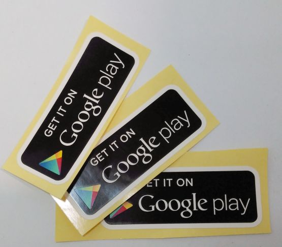 Stiker Google Play - Vinyl 2