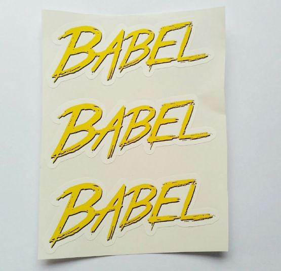 Stiker Babel - Vinyl Cut 2