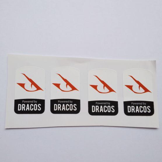 Stiker Badge Dracos Linux 2