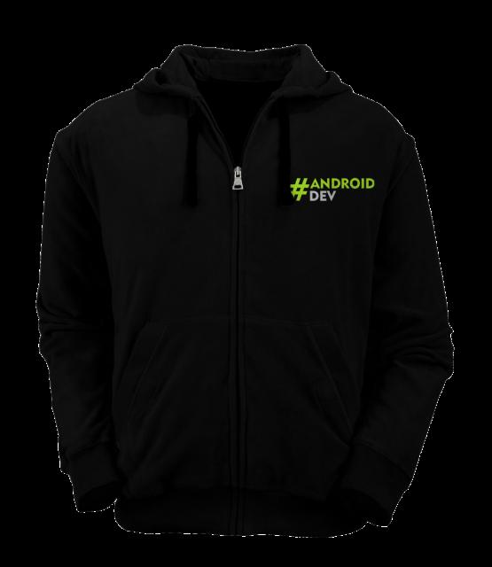 [PRE ORDER] Hoodie Zipper AndroidDev 2