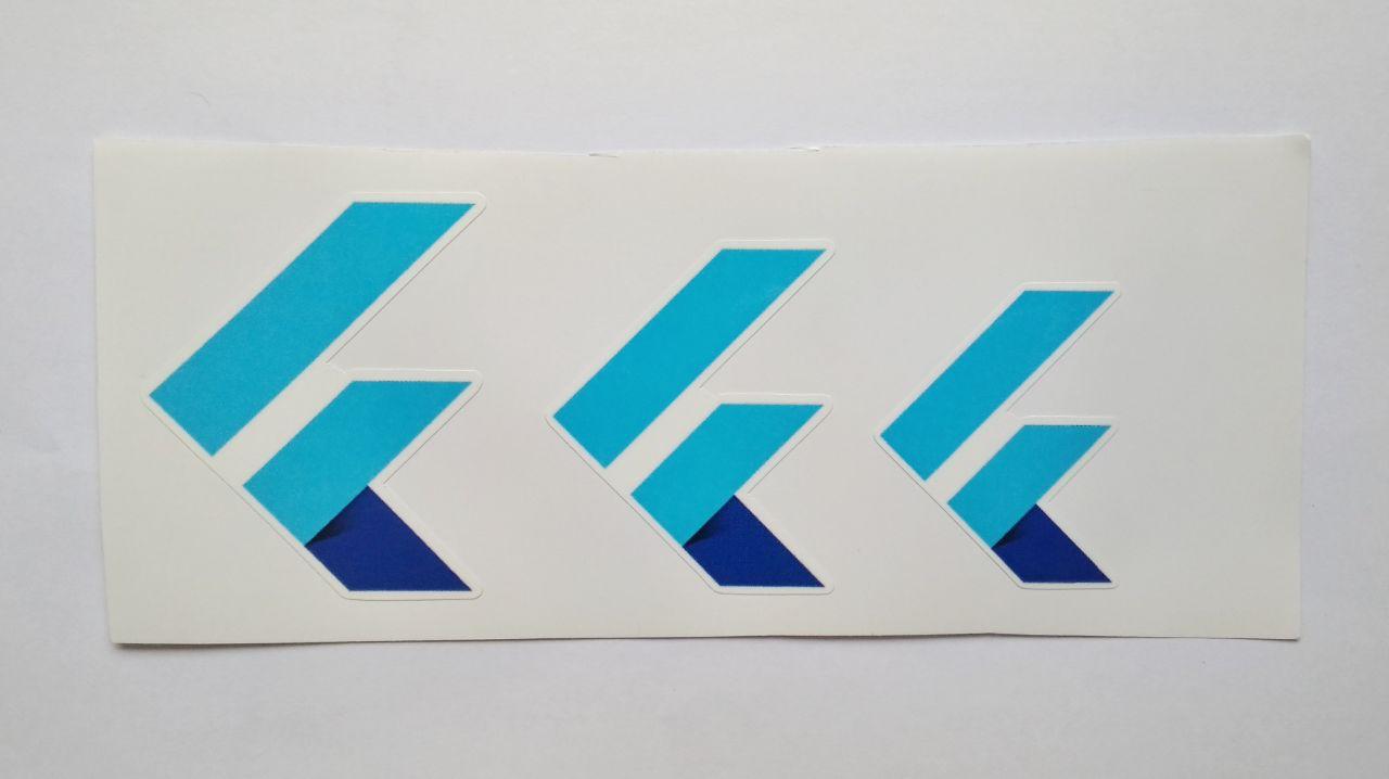 Stiker Flutter -  Vinyl Cut 1