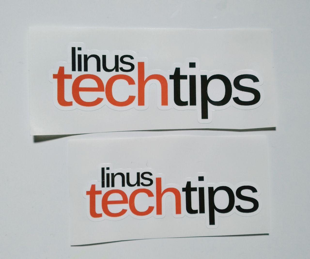 Stiker Linus Tech Tips - Vinyl Cut 1