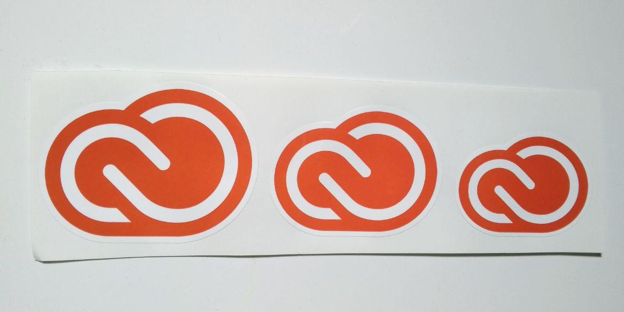 Stiker Creative Cloud - Vinyl Cut 1