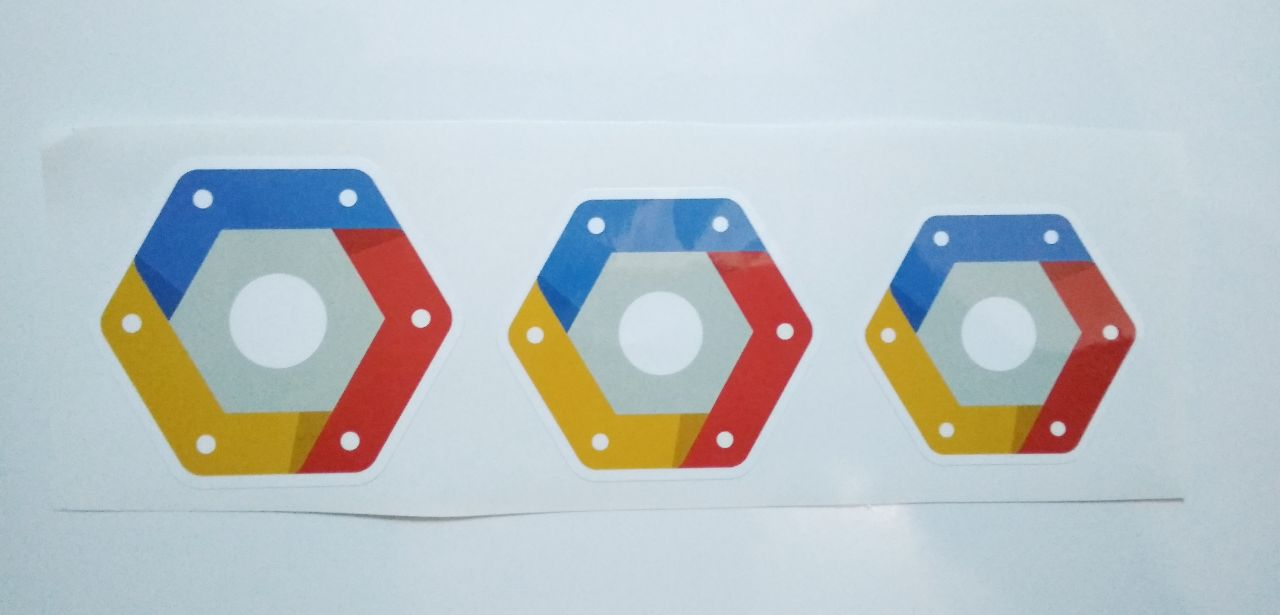 Stiker Google Cloud Platform  - Vinyl Cut 1