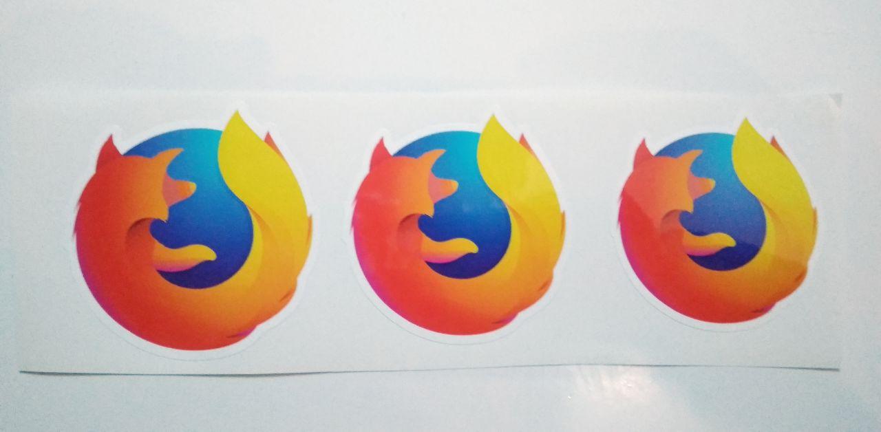 Stiker Firefox - Vinyl Cut 1