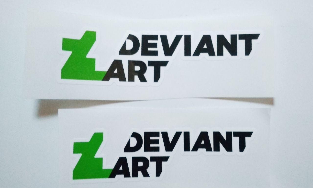Stiker DevianArt - Vinyl Cut 1