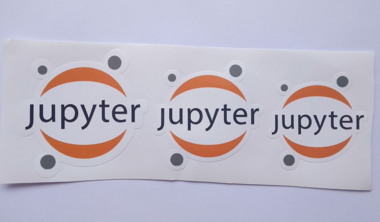 Stiker Jupyter - Vinyl Cut 1