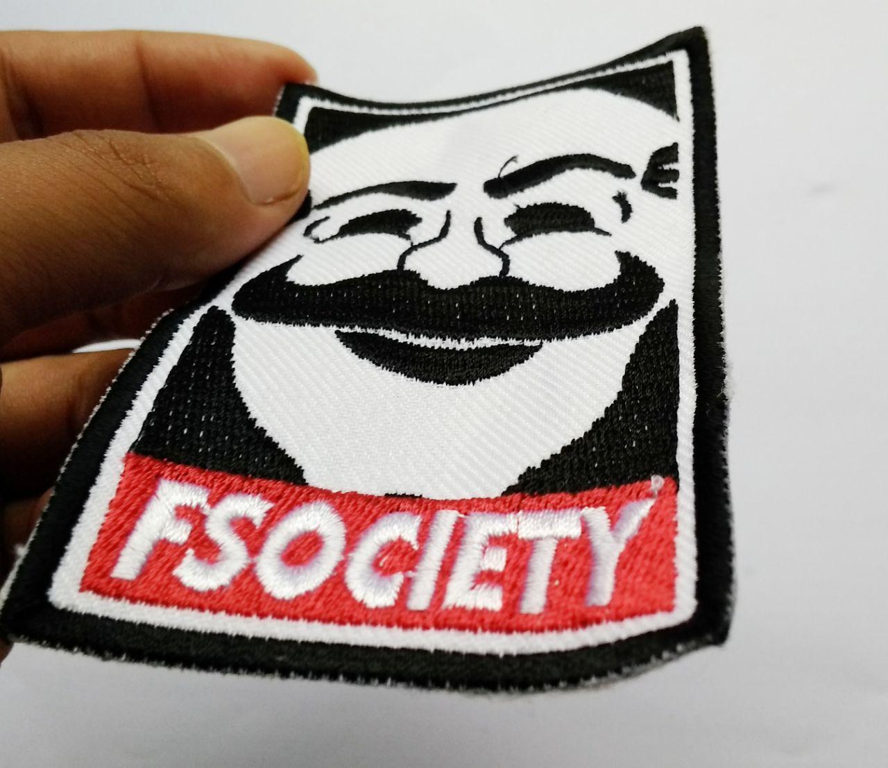 Patch Emblem Mr Robot dan Fsociety 4