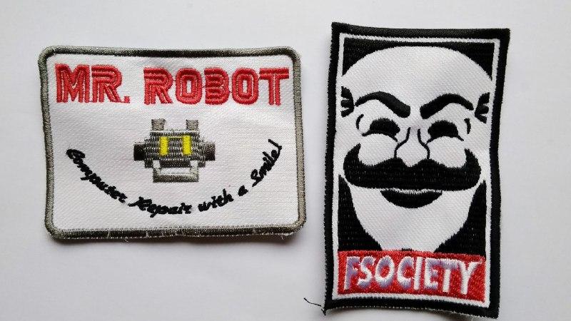 Patch Emblem Mr Robot dan Fsociety 1