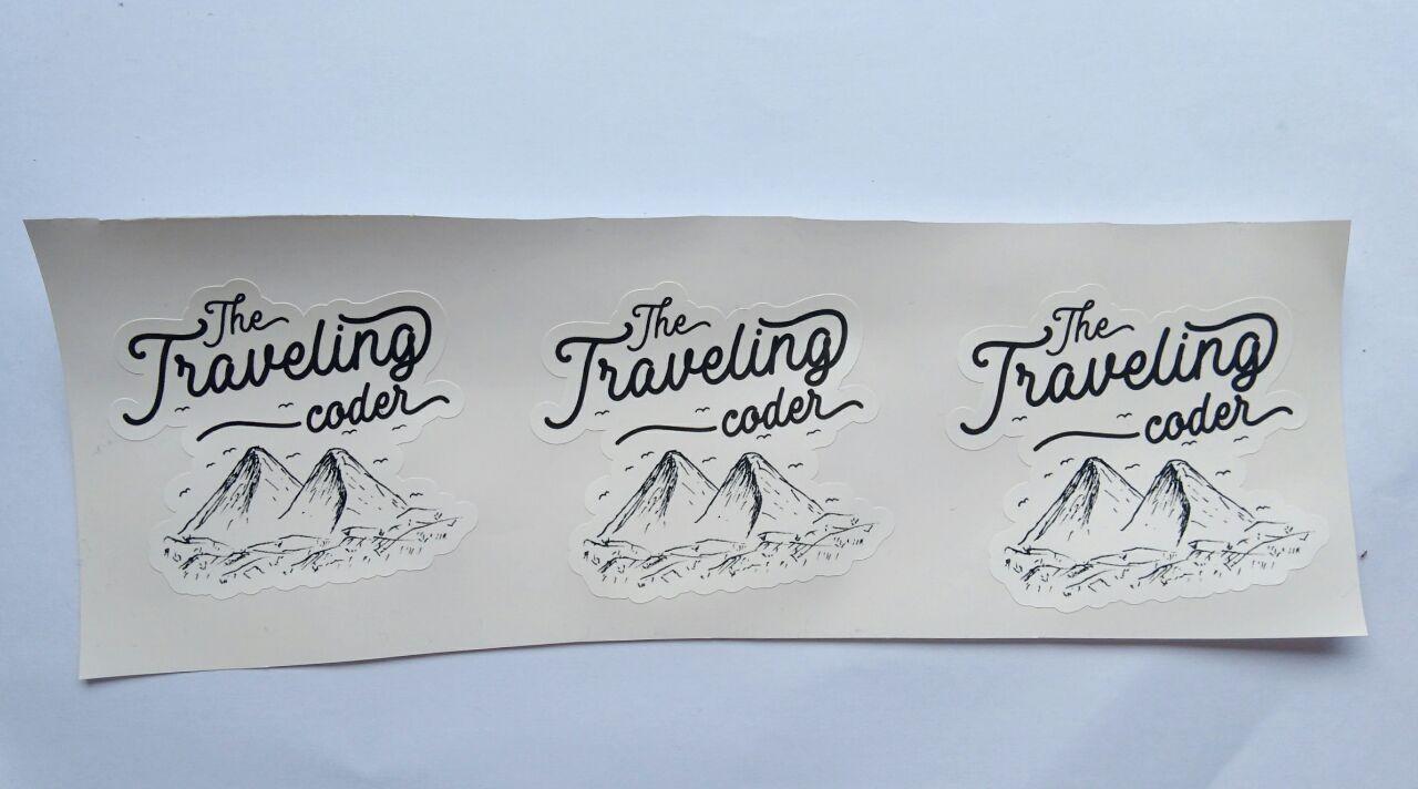 Stiker Traveling Coder - Vinyl Cut 1