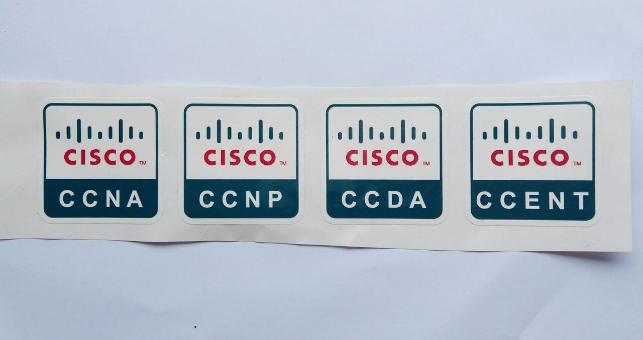 Stiker Cisco Certificate - Vinyl Cut 1
