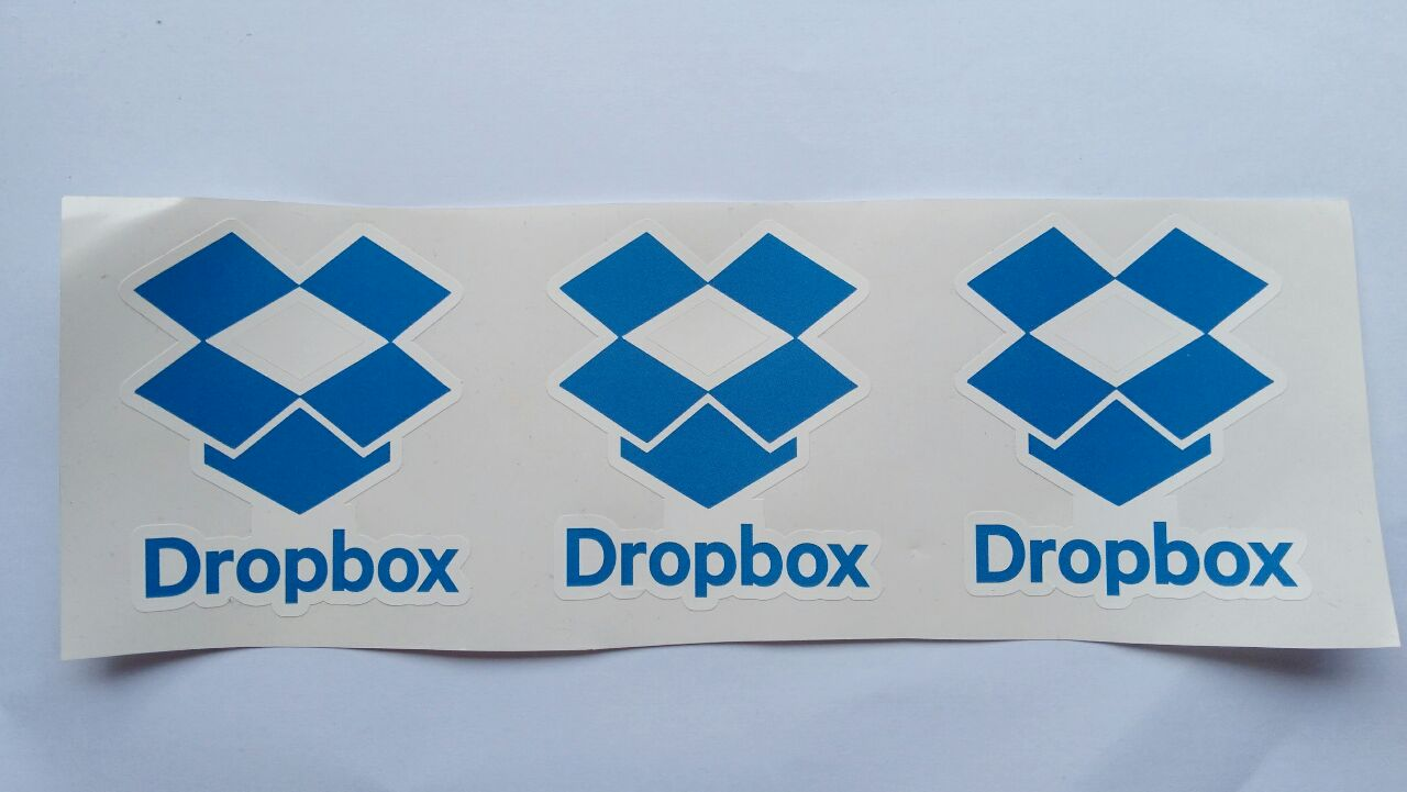 Stiker Dropbox - Vinyl Cut 1