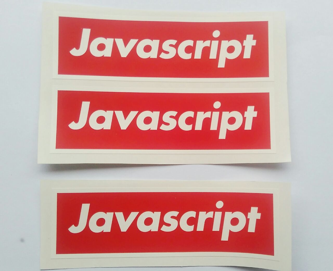 Stiker Javascript merah - Vinyl Cut 1