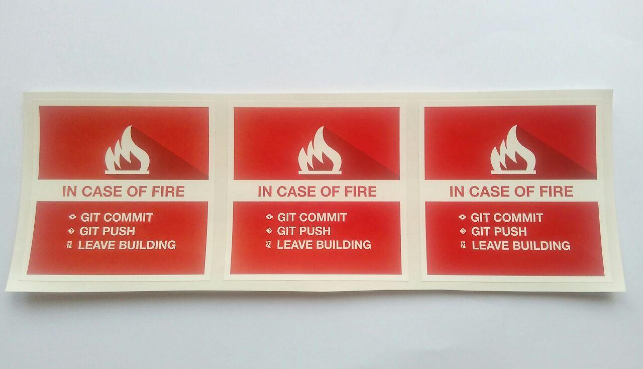 Stiker Git Fire - Vinyl Cut 1