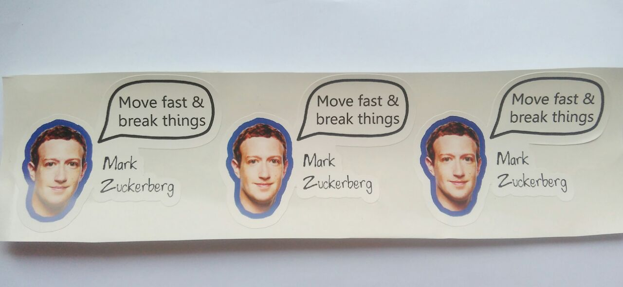 Stiker Mark Zuckerberg Quote - Vinyl Cut 1