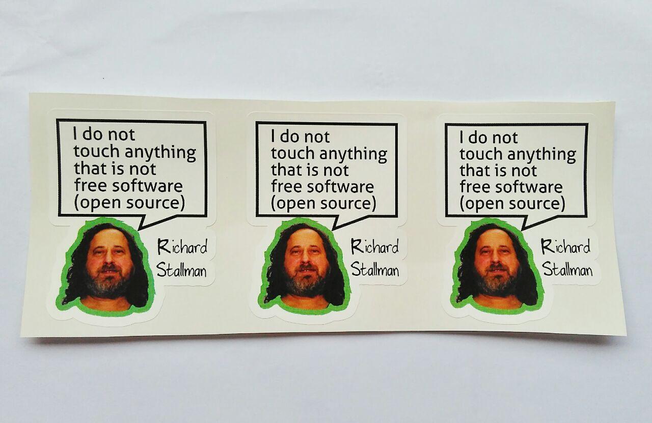 Stiker Richard Stallman Quote - Vinyl Cut 1