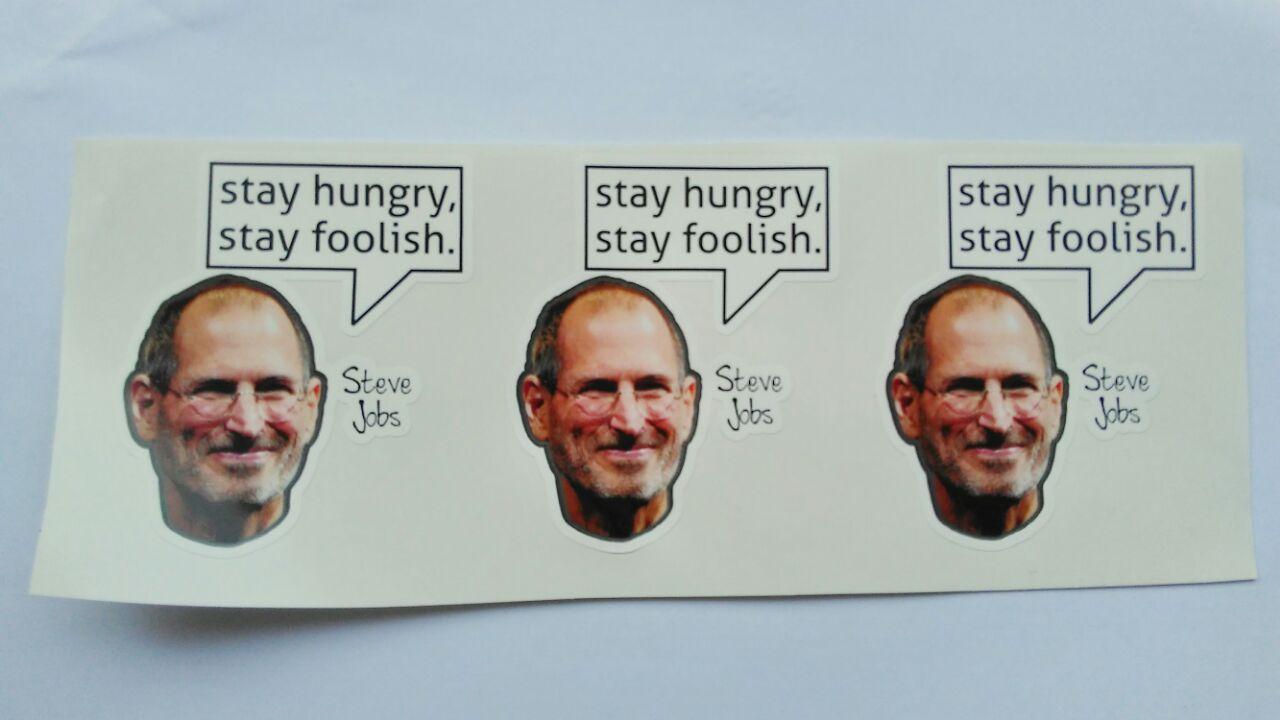 Stiker Steve Jobs - Vinyl Cut 1